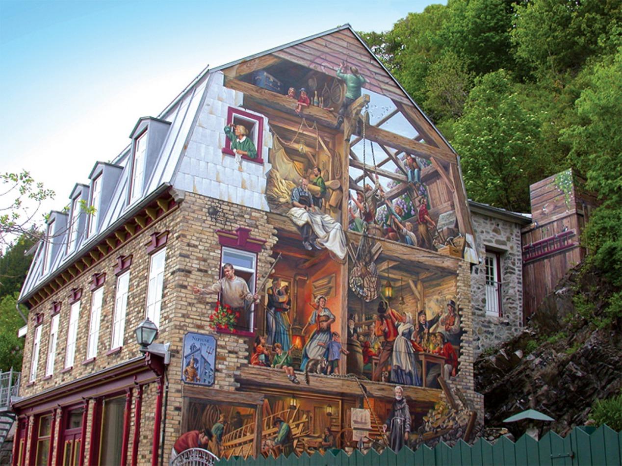 Circuit Québec-Lévis:<br/> 1-La Fresque du Quartier Petit-Champlain, 2001