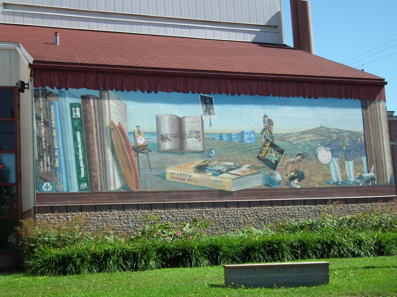 Circuit Mont-Joli:<br/> 3-La Fresque «De l'enracinement à l'éclosion», 2003