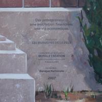 Circuit Mont-Joli:<br/> 11-La Fresque «Des entrepreneurs, une institution financière; une vie économique», 2007