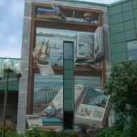 Circuit Québec-Lévis:<br/> 2-La Fresque de la Bibliothèque Lauréat-Vallières, 2002