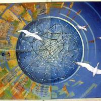 Circuit Mont-Joli:<br/> 5-La Fresque «L'évolution des communications à travers les âges», 2004