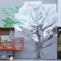 Réalisation arbre côté entrée principale