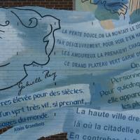 Circuit Québec-Lévis:<br/> 4-La Fresque de la Bibliothèque Gabrielle-Roy, 2003