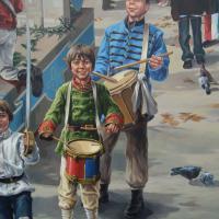 Circuit du Vieux St-Eustache:<br/> 5-La Fresque Hommage aux Patriotes 1837-1937, 2012