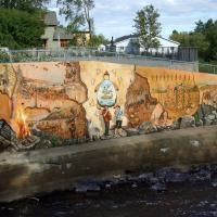 Circuit Québec-Lévis:<br/> 7-La Fresque du Peuple Wendat